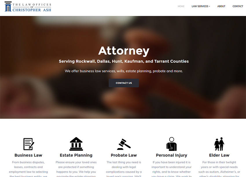 Web Design – Chris Ash Law Firm