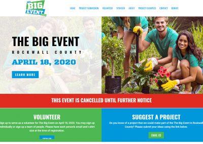 Web Design The Big Event Rockwall