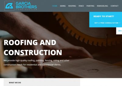 Web Design Garcia Brothers Construction