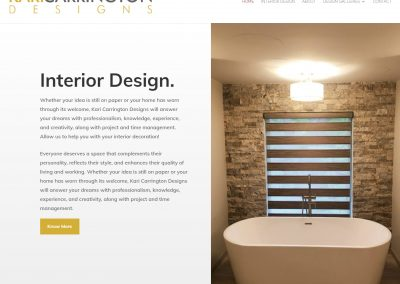 Web Design Kari Carrington Designs