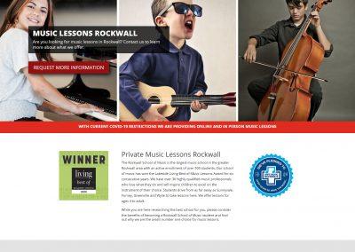 Web Design The Rockwall School of Music