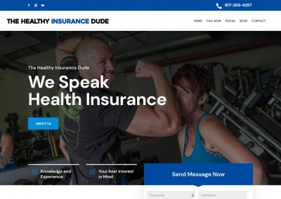 Web Design The Healthy Insurance Dude