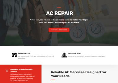 Web Design All Care Comfort