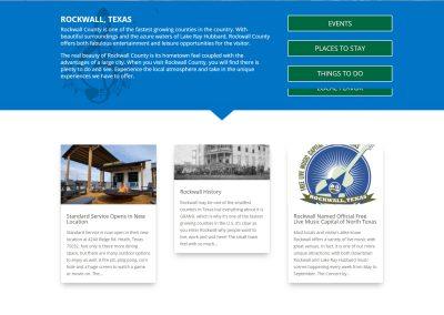 Web Design Visit Rockwall